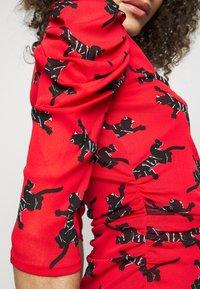 Diane von Furstenberg - ABRA DRESS - Denní šaty - red - 5