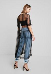 Monki - SILVIA DRESS - Denní šaty - black - 3