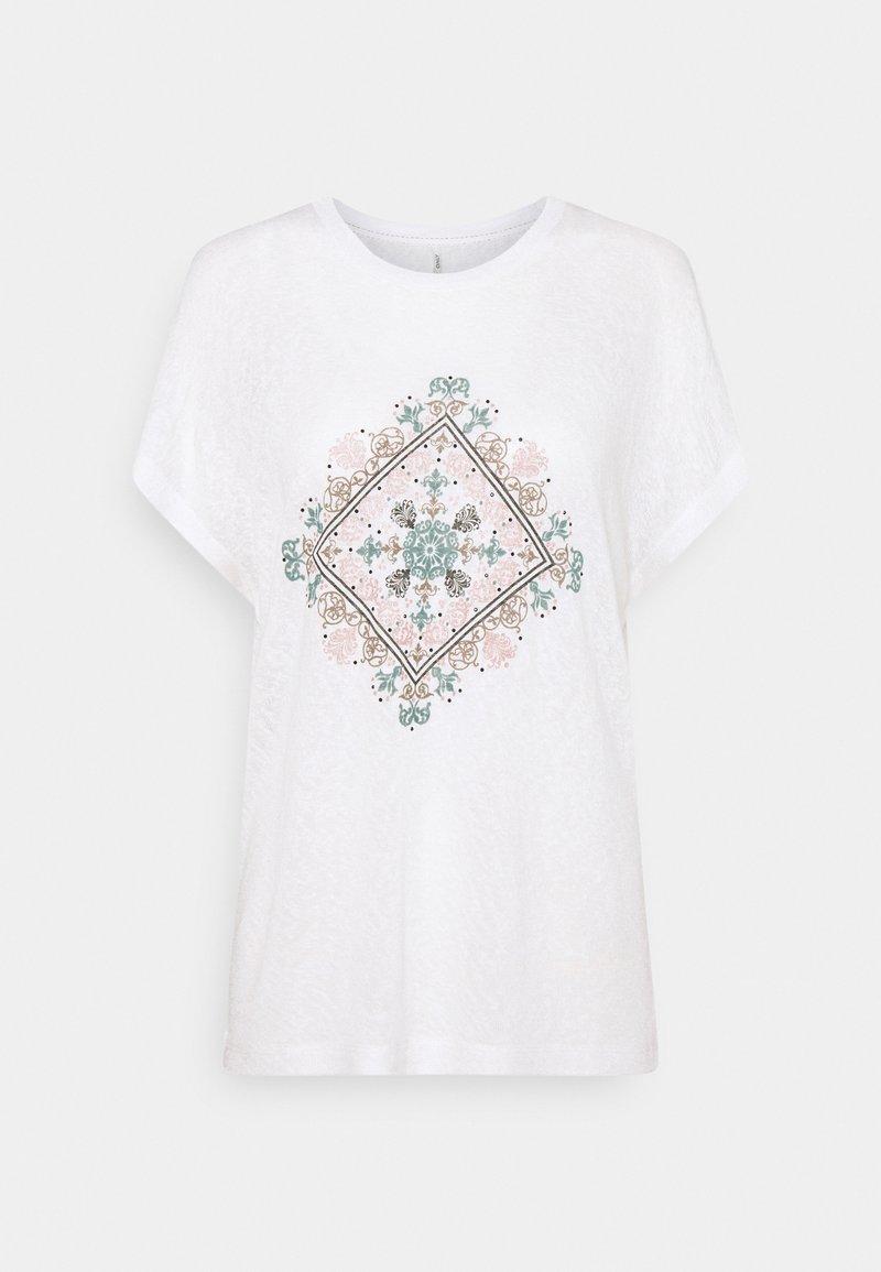 ONLY - ONLPIPER - T-shirts med print - cloud dancer