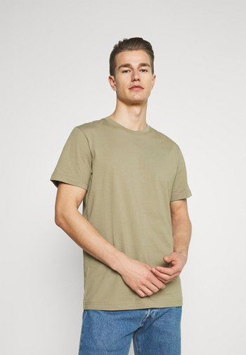 SLHNORMAN O NECK TEE - T-shirt - bas - aloe
