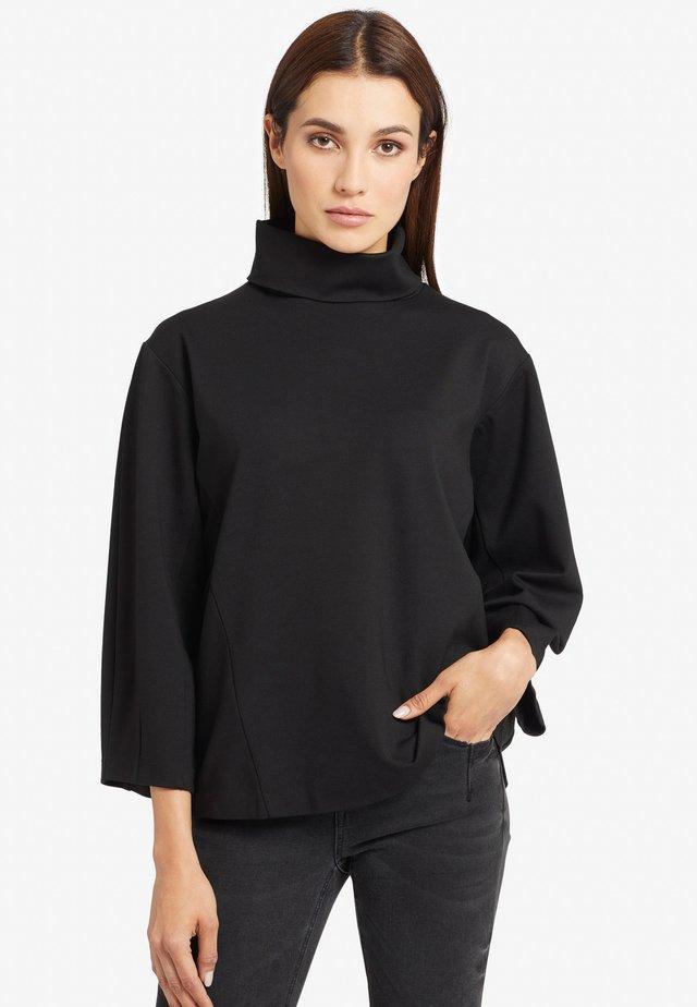 ILONA - T-shirt à manches longues - black