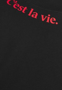 Les Petits Basics - C'EST LA VIE UNISEX - Print T-shirt - black - 2