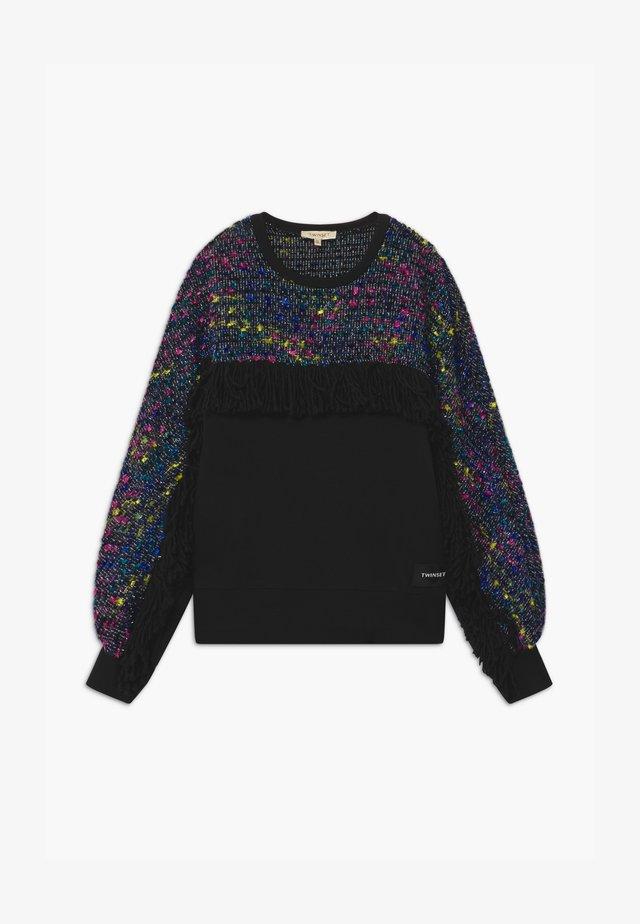 GIROCOLLO FRANGE - Sweater - black