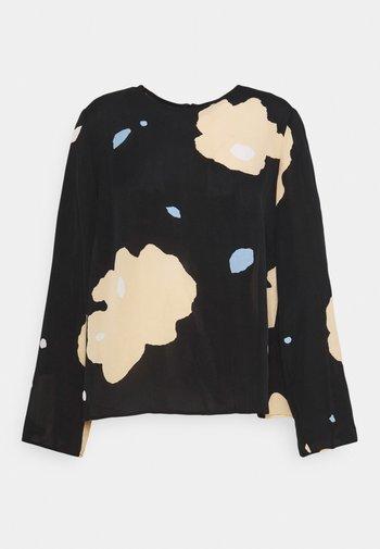 PISTETULO LENNOKKI  - Bluse - black/beige/blue