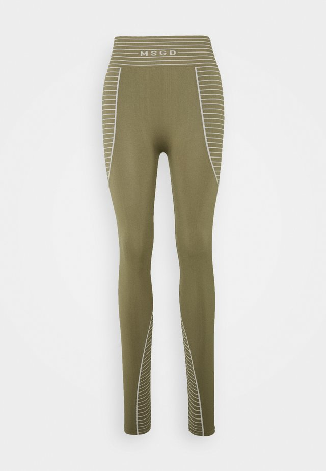 SEAMLESS HIGH WAISTED - Legging - khaki