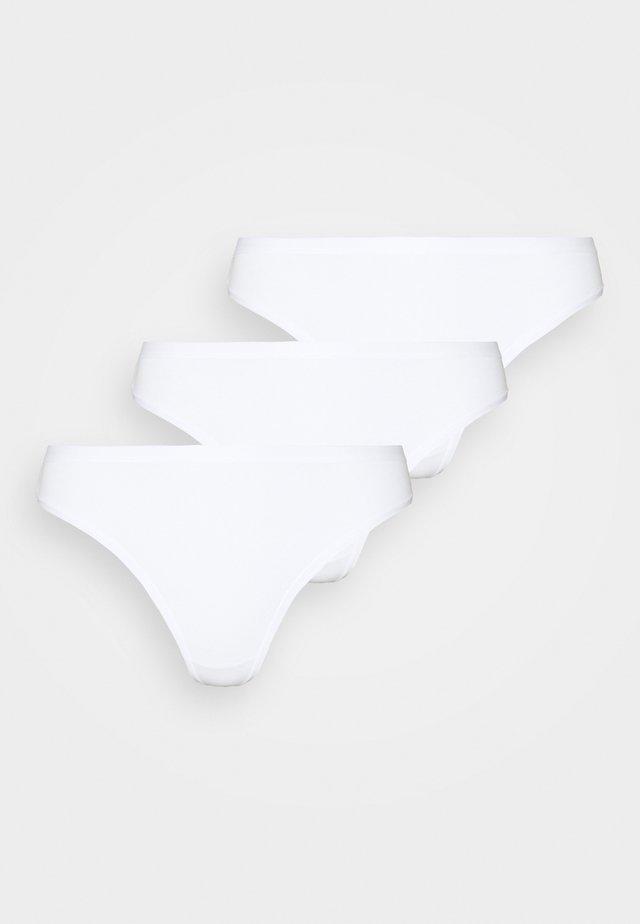 CARIN THONG 3 PACK - Stringit - white