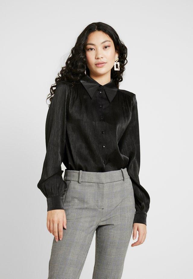 YASFLUXO PARTY - Button-down blouse - black
