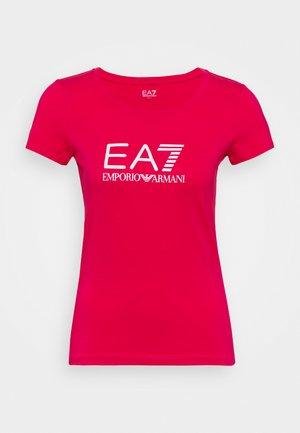 Camiseta estampada - rose red/white