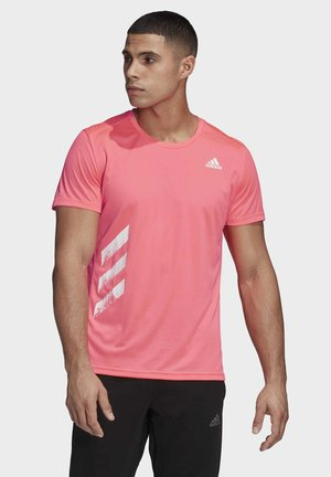 RUN IT 3-STRIPES PB T-SHIRT - Camiseta estampada - pink