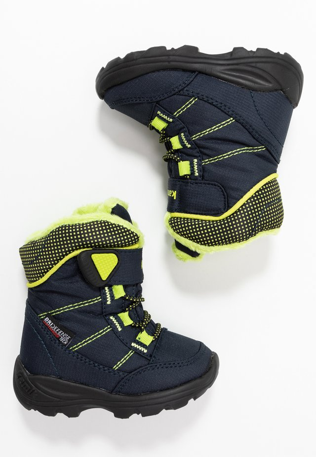 STANCE - Winter boots - navy/lime/marine/citron