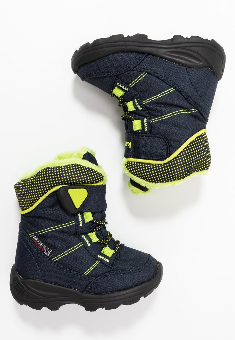 Kamik - STANCE - Winter boots - navy/lime/marine/citron