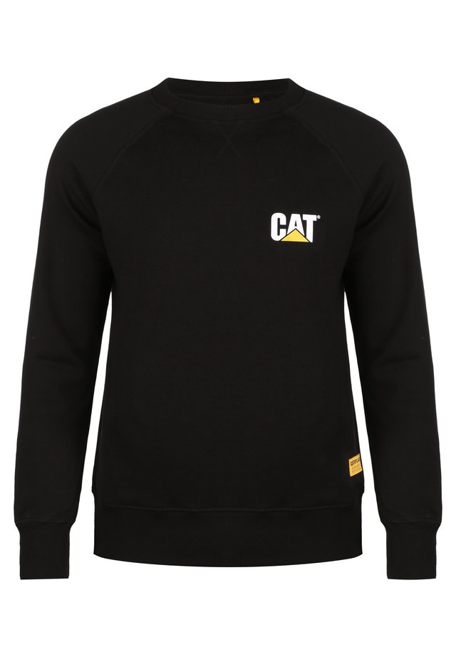 CATERPILLAR CAT SMALL LOGO ROUNDNECK SWEATSHIRT HERREN - Sweater - black