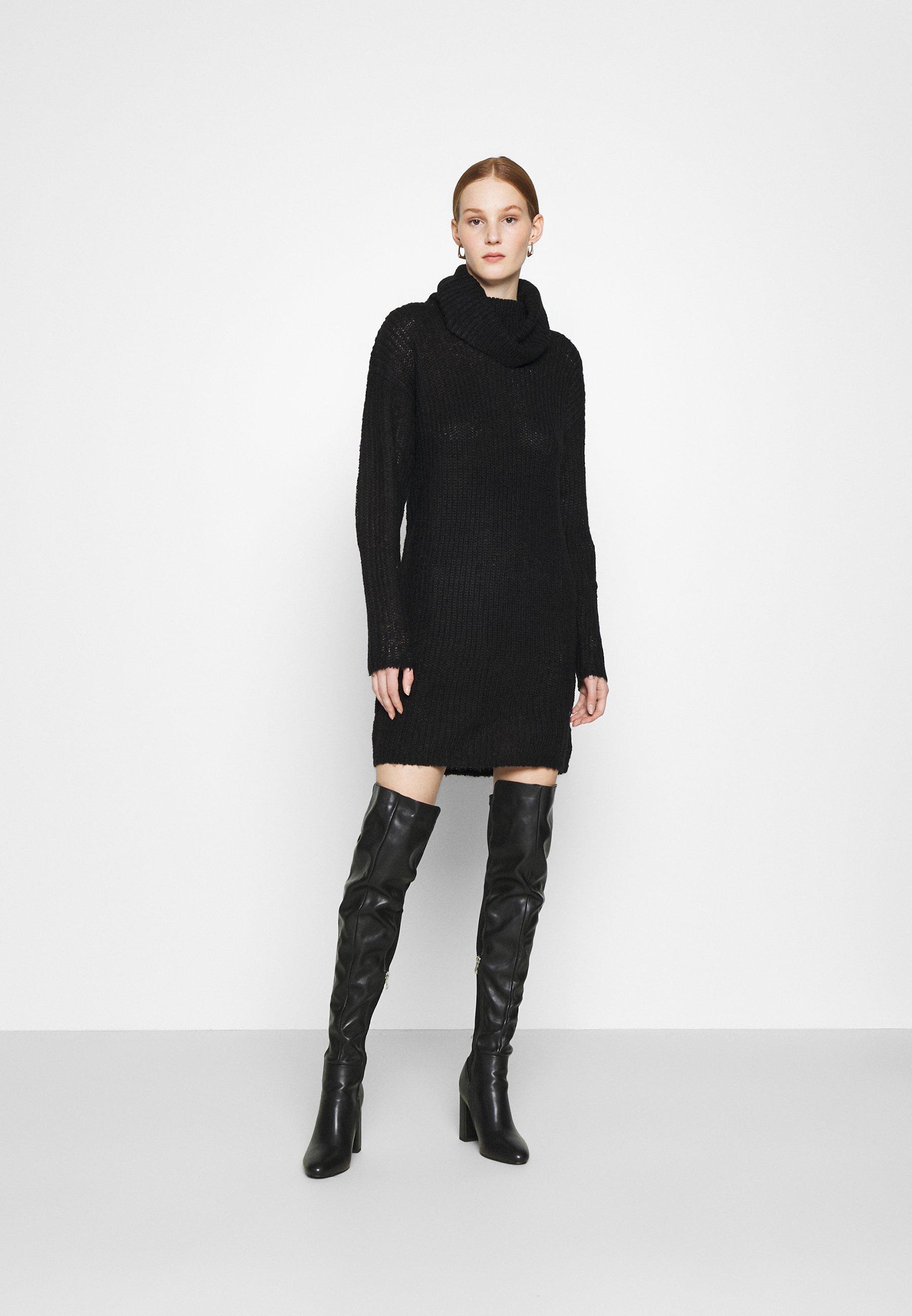 Mujer JDYDANILLA ROLL NECK DRESS  - Vestido de punto
