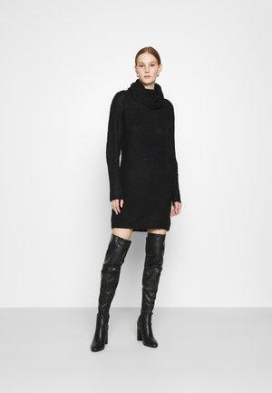 JDYDANILLA ROLL NECK DRESS  - Abito in maglia - black