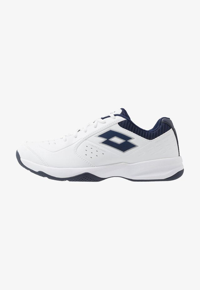 SPACE 600 II - Chaussures de tennis toutes surfaces - all white/navy blue