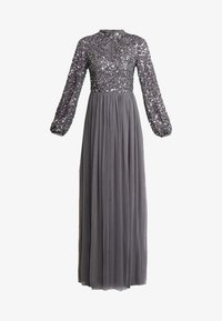 Maya Deluxe - BISHOP SLEEVE DELICATE SEQUIN  WITH KEYHOLE - Occasion wear - charcoal - 5