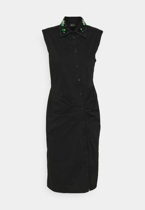 ABITO RICAMO - Shirt dress - nero