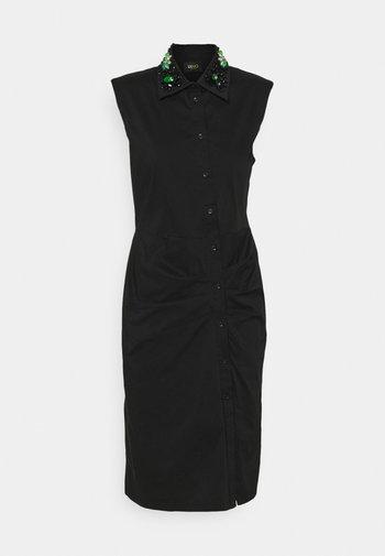 ABITO RICAMO - Shirt dress - nero