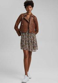 edc by Esprit - Leather jacket - caramel - 1