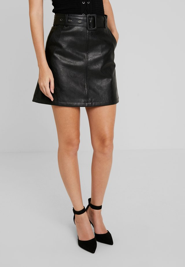 YOUNG LADIES SKIRT - Spódnica trapezowa - black