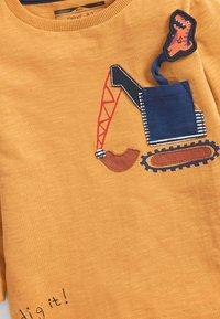 Next - DIGGER DINO POCKET  - Long sleeved top - yellow - 2