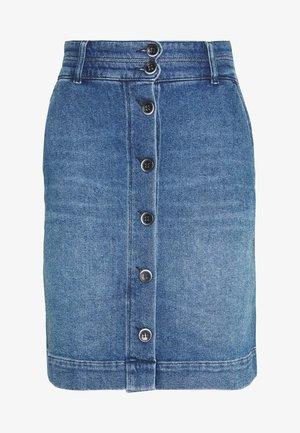 LIGHT TWILL - Pencil skirt - denim dark blue