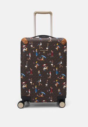 TRAVEL HARDCASE TROLLEY - Wheeled suitcase - brown/multi
