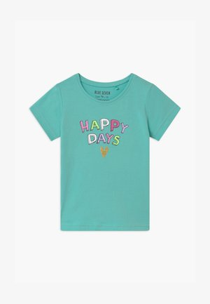SMALL GIRLS RAINBOW - Print T-shirt - aqua
