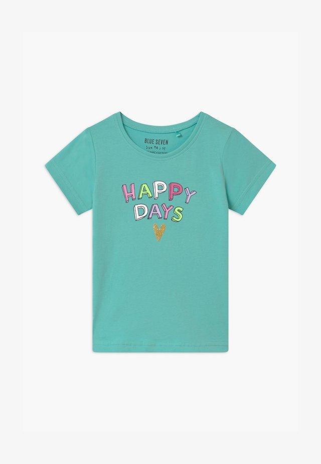 SMALL GIRLS RAINBOW - T-shirt print - aqua