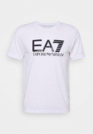 Print T-shirt - white/black