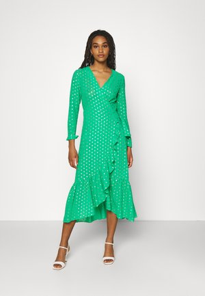 RAINBOW SPOT MIDIDRESS - Day dress - green