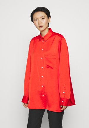 ADELINE BLOUSE - Button-down blouse - bride red