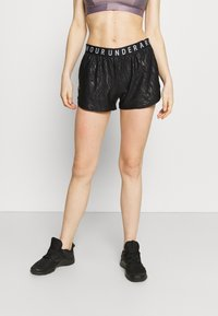 Under Armour - PLAY UP SHORTS EMBOSS 3.0 - Sports shorts - black - 0