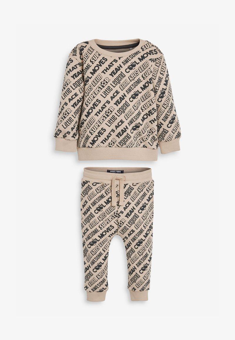 Next - ALL OVER PRINT SLOGAN SET - Sweatshirt - beige