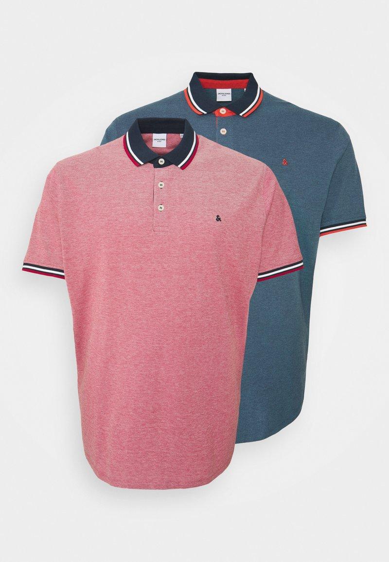 Jack & Jones - JJEPAULOS 2 PACK - Polo shirt - rio red
