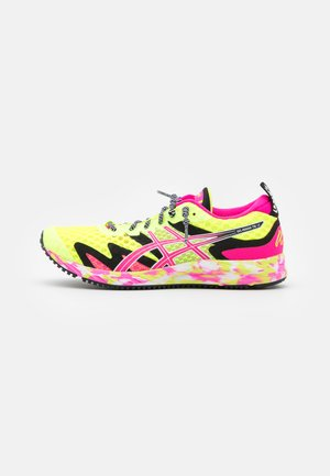 GEL-NOOSA TRI 12 - Competition running shoes - safety yellow/pink glo