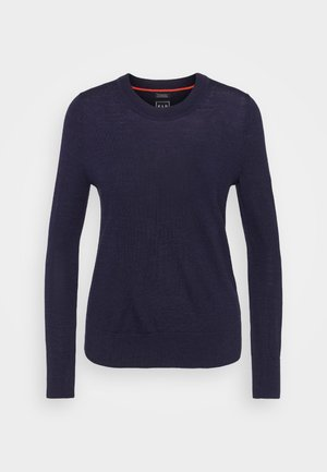 Strikkegenser - navy heather
