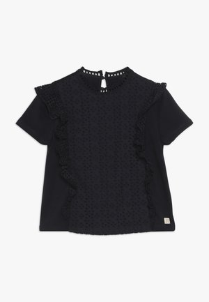 SHORT SLEEVE BRODERIE ANGLAISE MIXED - Blouse - night