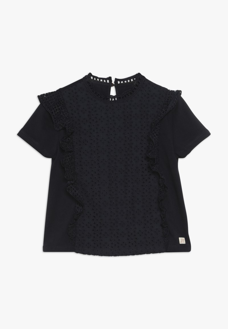 Scotch & Soda - SHORT SLEEVE BRODERIE ANGLAISE MIXED - Blouse - night
