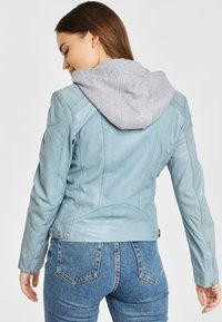Gipsy - AELLY LAMAS - Leather jacket - light blue - 2