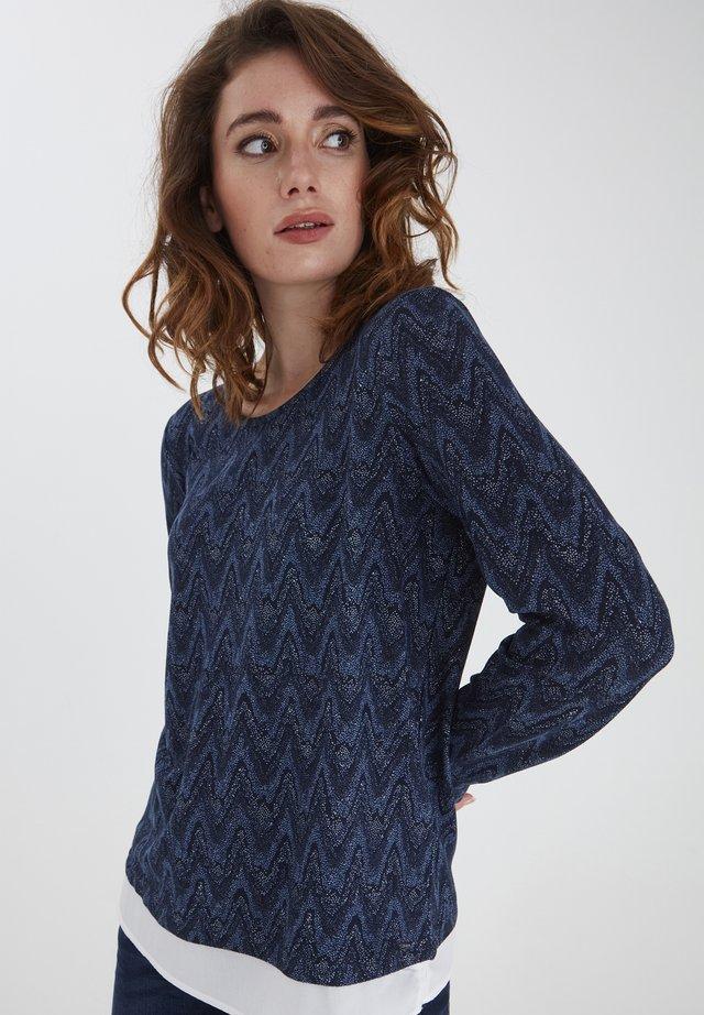 Långärmad tröja - navy blazer mix