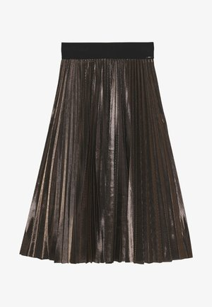 GONNA LUNGA PLISSE - A-line skirt - nero