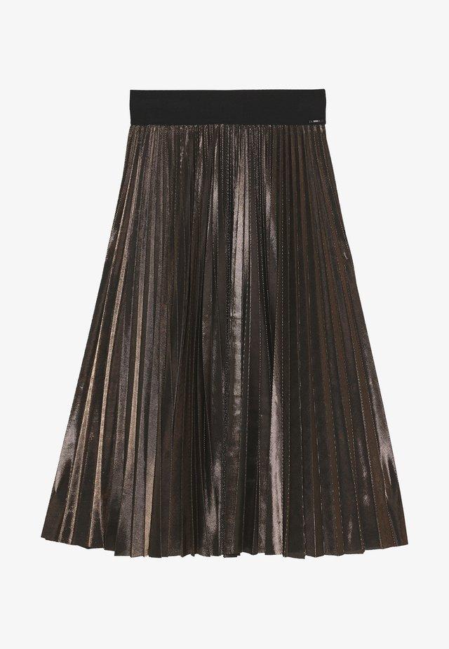 GONNA LUNGA PLISSE - A-line skirt - nero