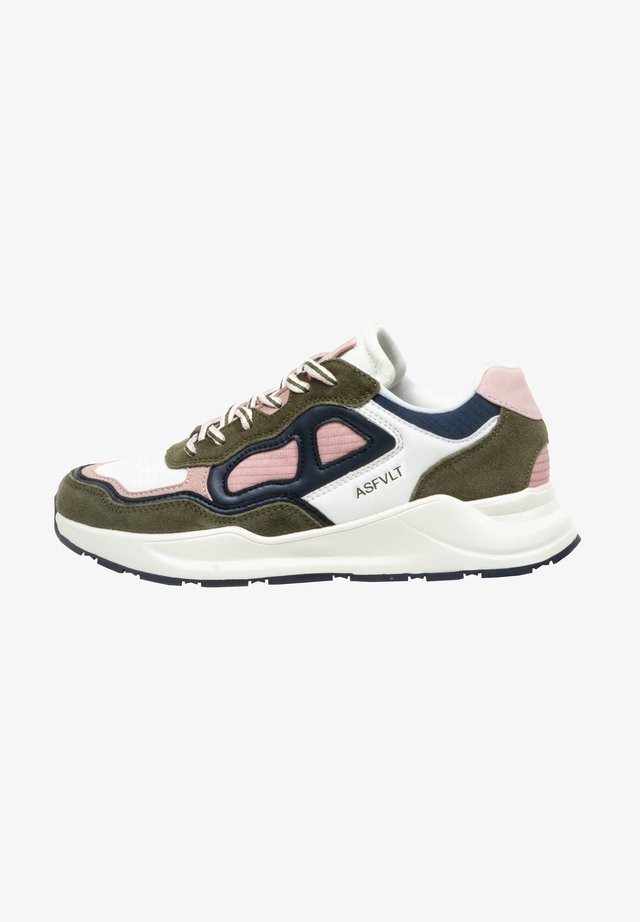 CONCRETE - Sneakers laag - w.olive/pink