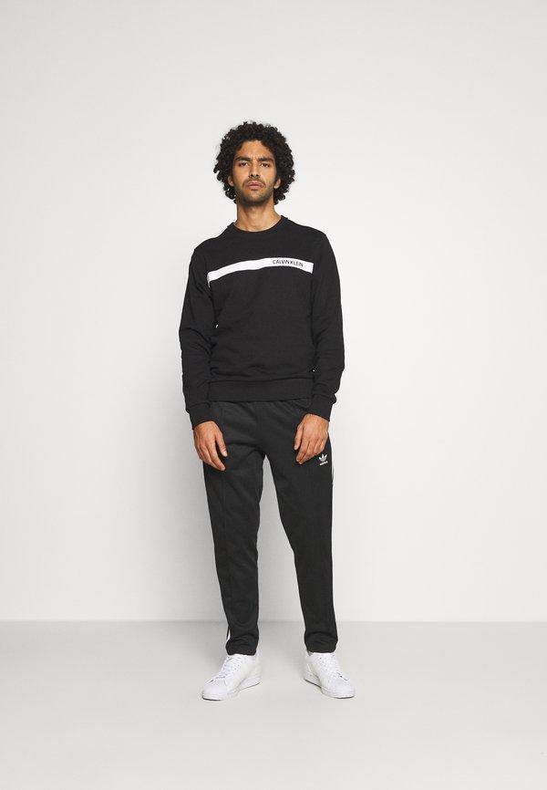 Calvin Klein BOLD STRIPE LOGO - Bluza - black/czarny Odzież Męska RTRS