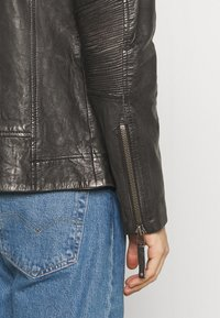 Freaky Nation - CHACCO - Leather jacket - dark anthra - 4