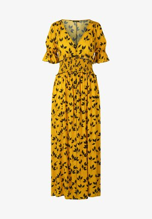 PRINTED DRESS - Robe longue - yellow/black
