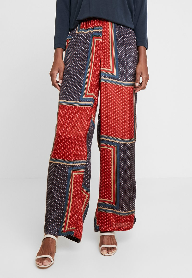 Kaffe - MEDA WIDE PANTS - Trousers - orion blue