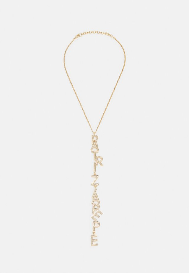 Necklace - gold-coloured/crystal