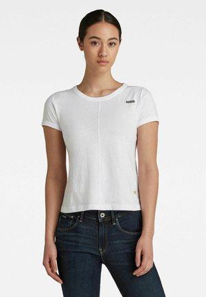 TOP STITCHING SLIM TEE - Basic T-shirt - white